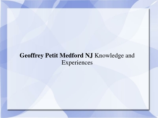 Geoffrey Petit Medford Nj