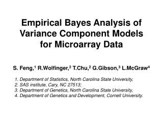 Empirical Bayes Analysis of Variance Component Models for Microarray Data