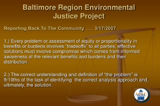baltimore region environmental justice project