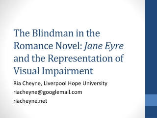 Literary Elements In Jane Eyre