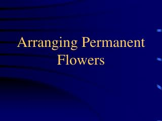 Arranging Permanent Flowers