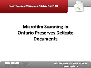 Microfilm Scanning in Ontario Preserves Delicate Documents