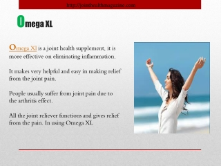 Oemga XL- A Joint Health Supplement