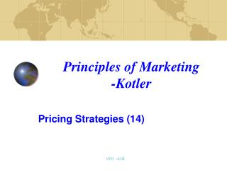 Principles of Marketing -Kotler