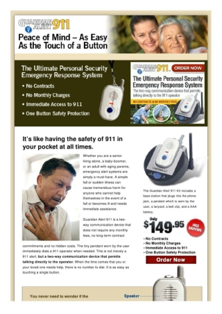 Guardian Alert 911 - The Safe Way to Live Independently