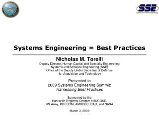 Systems Engineering = Best Practices