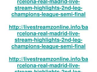 barcelona vs real madrid live stream highlights 2nd leg cham