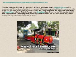 Keretamini.com Pabrik Kereta Mini No 1. Ready Stock Product