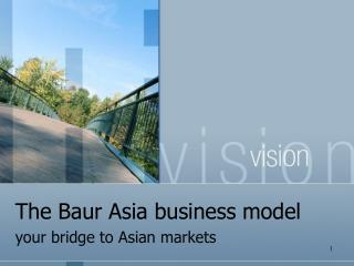 The Baur Asia business model