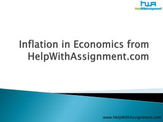 inflation in economics at helpwithassignment.com