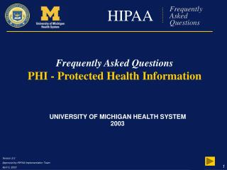 HIPAA Frequently Asked Questions