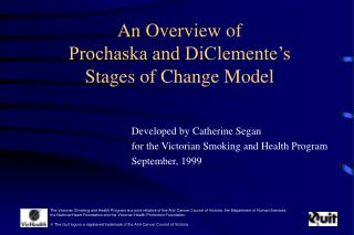 An Overview of  Prochaska and DiClemente's Stages of Change Model