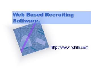 Web Based Recruiting Software