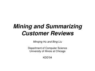 Mining and Summarizing Customer Reviews