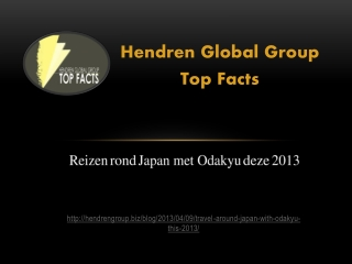 Hendren Global Group Top Facts: Reizen rond Japan met Odakyu