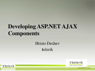 Developing ASP AJAX Components