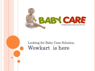 Online Baby Care Products