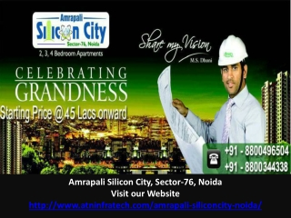 Amrapali Silicon City Starting Price 45 Lacs
