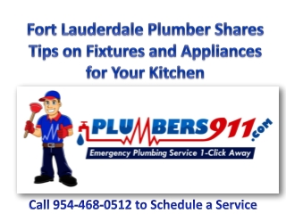 Plumber Fort Lauderdale Shares Tips on Fixtures and Applianc