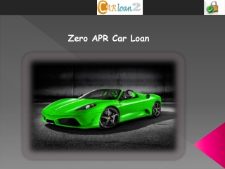 Zero APR Car Loan