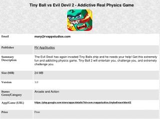 Tiny Ball vs Evil Devil 2 - Addictive Real Physics Game