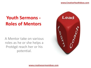 Youth Sermons - Roles of Mentors