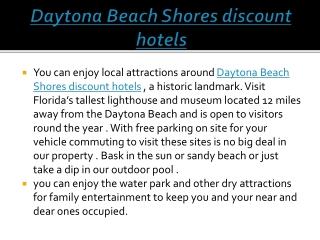 Daytona Beach Shores discount hotels