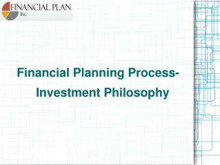 Financial Planning Process-Investment Philosophy