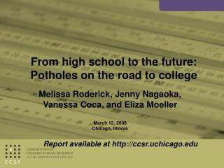 From high school to the future: Potholes on the road to college