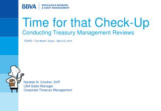 Time for that Check-Up  Conducting Treasury Management Reviews