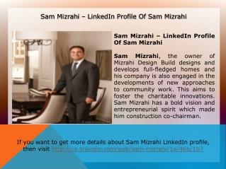 Sam mizrahi, owner of mizrahi design build corporation