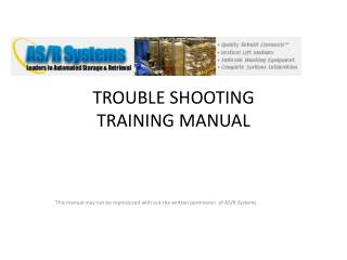 TROUBLE SHOOTING  TRAINING MANUAL