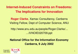 Internet-Induced Constraints on Freedoms: The Implications for Innovation Agenda