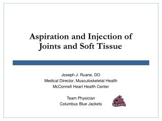 Aspiration and Injection of Joints and Soft Tissue