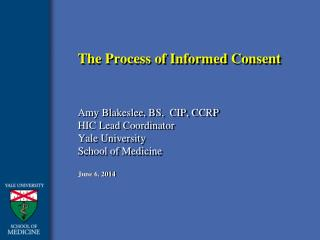 The Process of Informed Consent