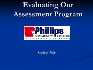 Evaluating Our Assessment Program