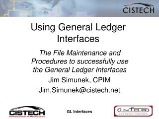 Using General Ledger Interfaces