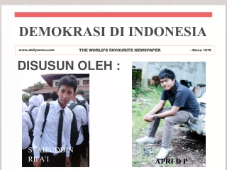 Demokrasi di Indonesia power point