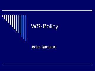 WS-Policy