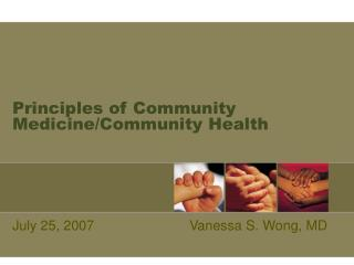 Principles of Community Medicine/Community Health