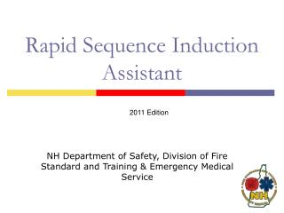 Rapid Sequence Induction Assistant