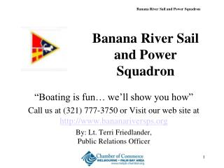 Banana River Sail and Power Squadron