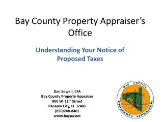Bay County Property Appraiser s Office