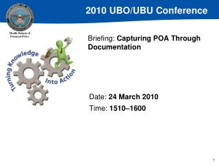 Briefing:  Capturing POA Through Documentation