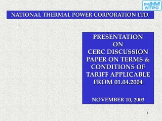 NATIONAL THERMAL POWER CORPORATION LTD.