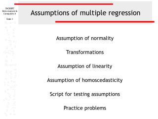 Assumptions of multiple regression
