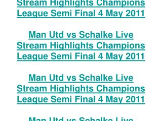 man utd vs schalke live stream highlights champions league s