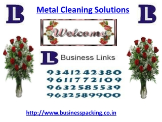 Metal Cleaning Solutions