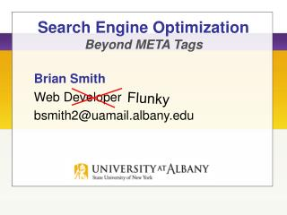 Search Engine Optimization Beyond META Tags