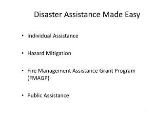 Disaster Assistance Made Easy